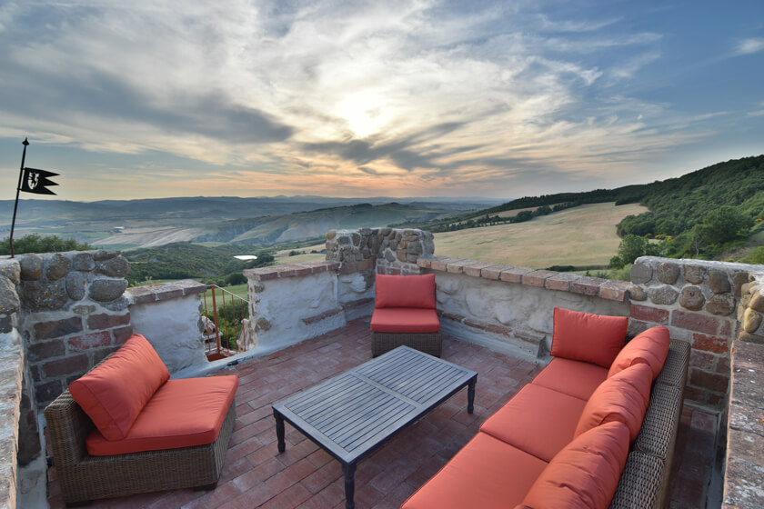 villa for rent in Valdorcia
